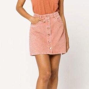 ROXY Unforgettable Corduroy Pink Mini Skirt